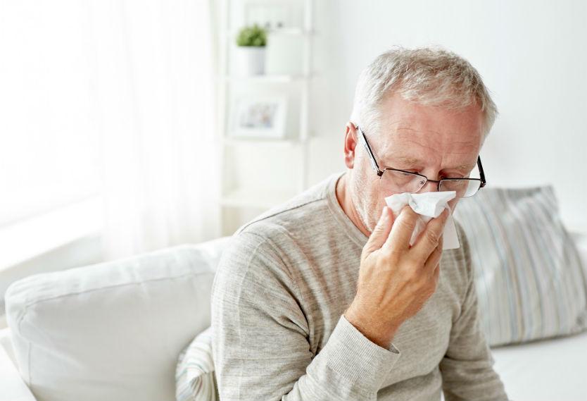 Paciente con enfermedad respiratoria